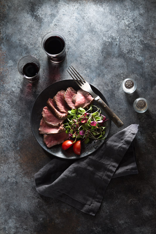 Steak with Salad Stock Food Photo