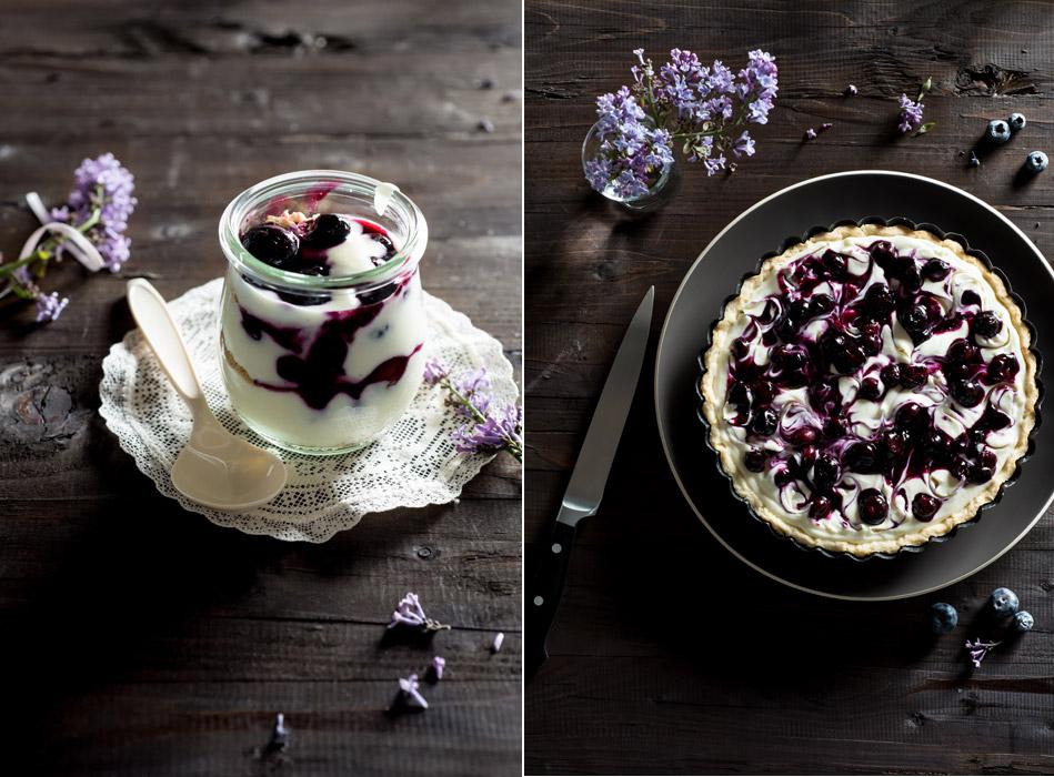 Blueberry Ginger Swirl Cheesecake Stock Food Photo