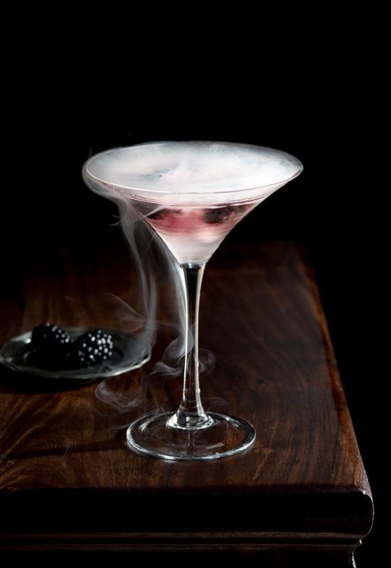 Blackberry Gin Cocktail Stock Photo
