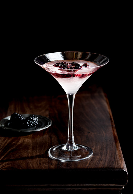 Blackberry Gin Cocktail Stock Photo