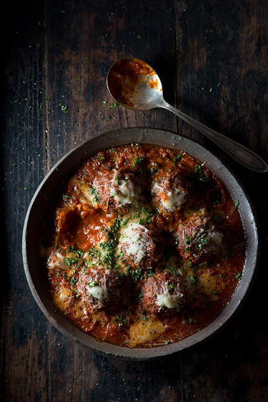 Meatballs in Tomato Sauce Food Stock Photo