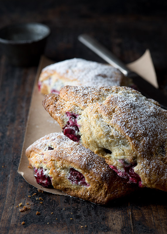 Cranberry Scones Food Stock Photo