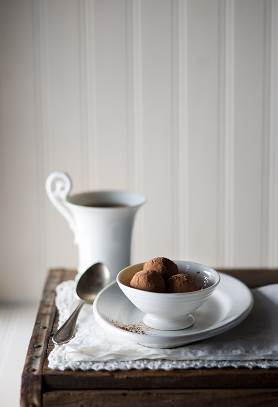 Chocolate Truffles Rolled in Cocoa Powder Food Stock Photo