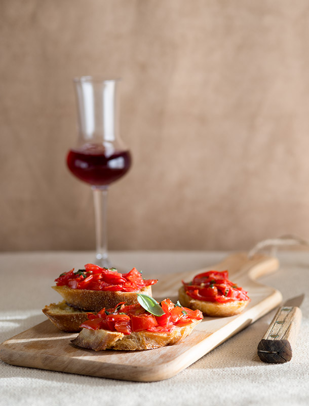 Bruschetta Food Stock Photo