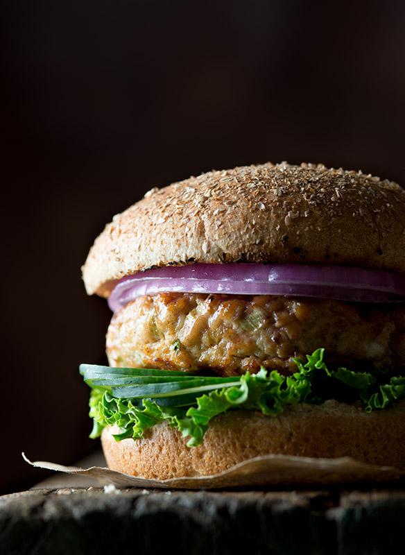 Chicken Burger Stock Food Photo
