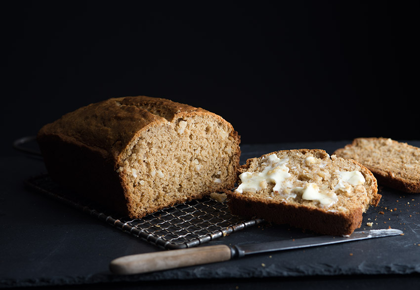 Banana Bread with Melting Butter