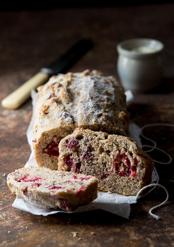 Cranberry Pecan Bread Stock Food Photo