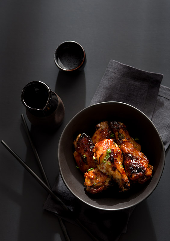 Asian Chicken Wings Stock Food Photo