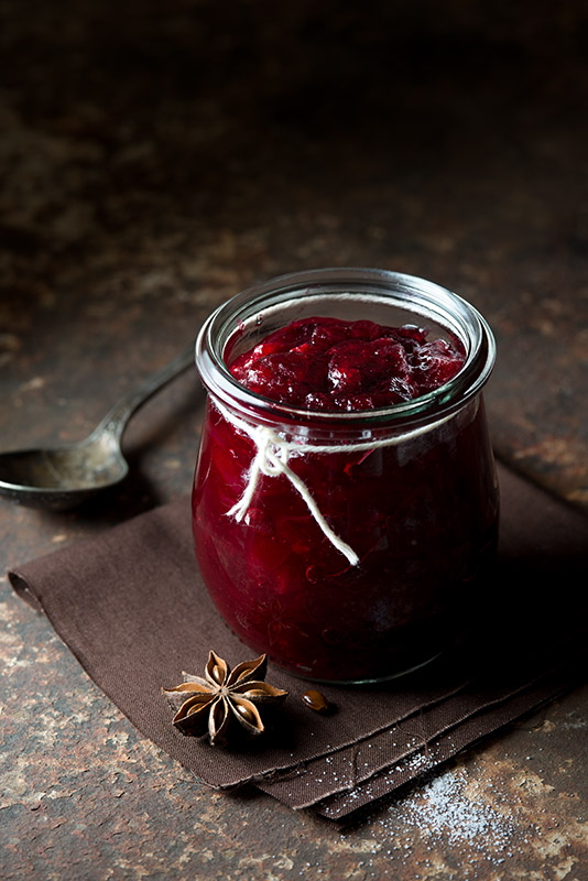 Star Anise Cranberry Sauce Stock Food Photo