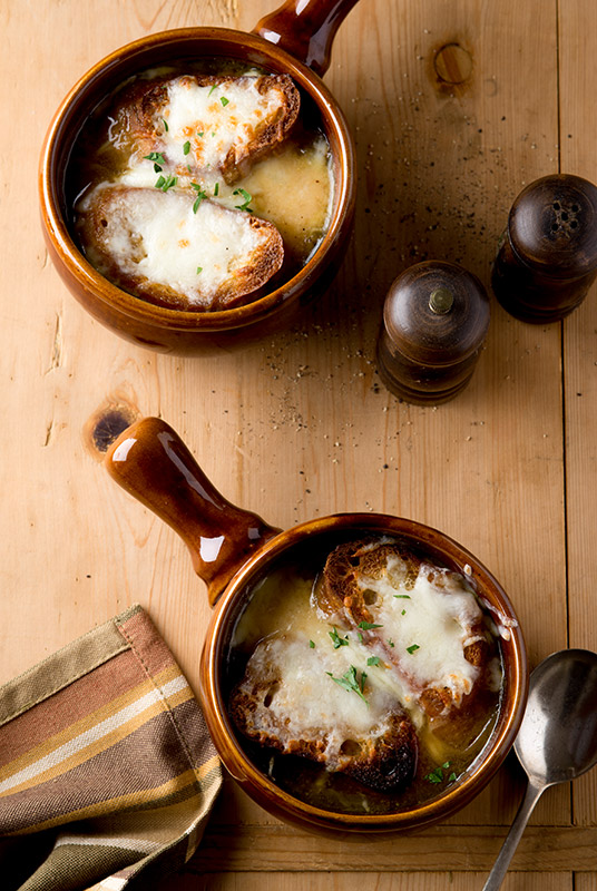 French Onion Soup Stock Food Photo