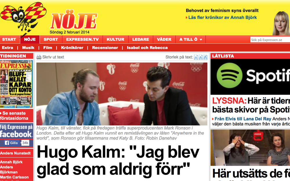 "Article in swedish ""Expressen"""
