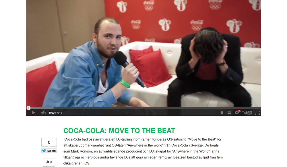 "About ""Move to the Beat"" by Coca-Cola and JMW"