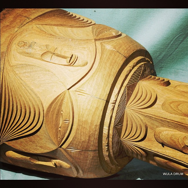 Some more detailed work from Wula Drum's master carvers in #Guinea #djembe #design #woodworking #art #carving #africa