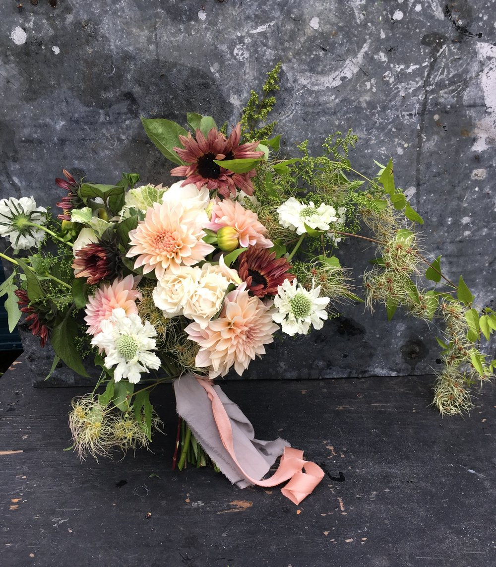 Blush + Chocloate Wedding Bouquet