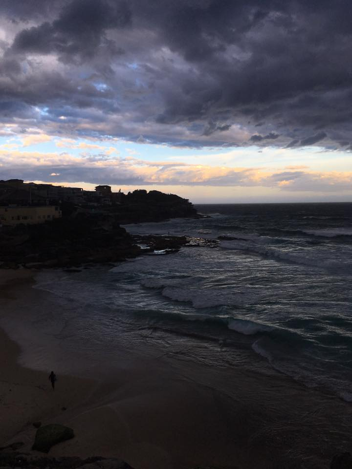 The sunset at Tamarama Beach in Sydney, now a very special place in the world for me.