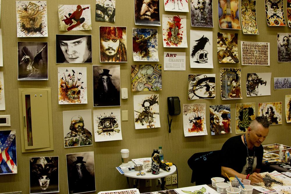 Eddie Mize and his fantastic art at CircleCityCon