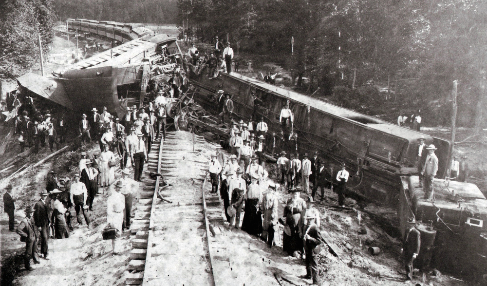 """Train Wreck - 1905"" by Jill Carlson, licensed under CC BY 2.0 / Modified from Original"