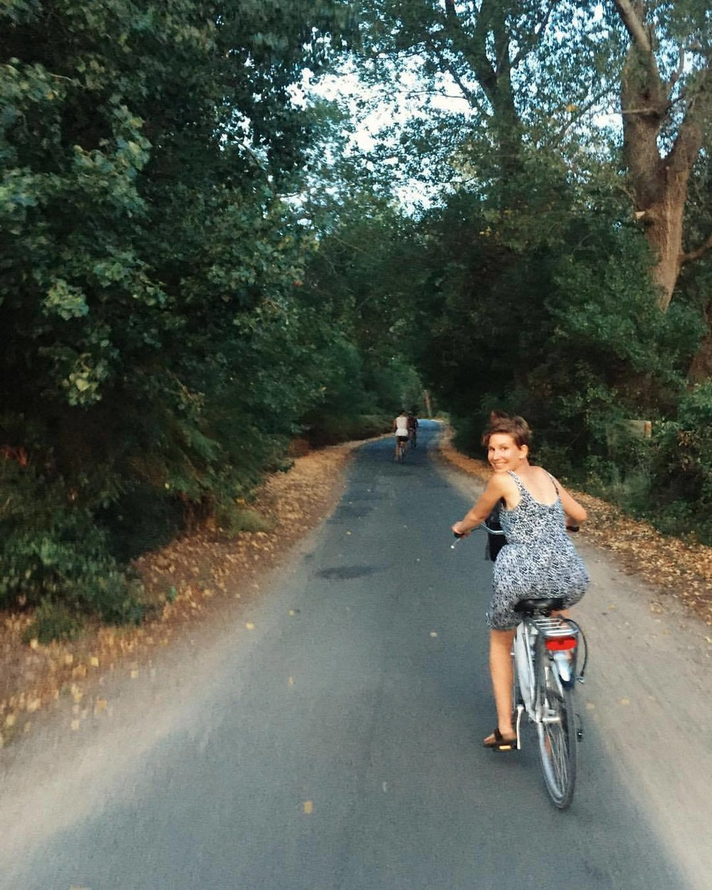 Biking in the forest in  Île de Ré
