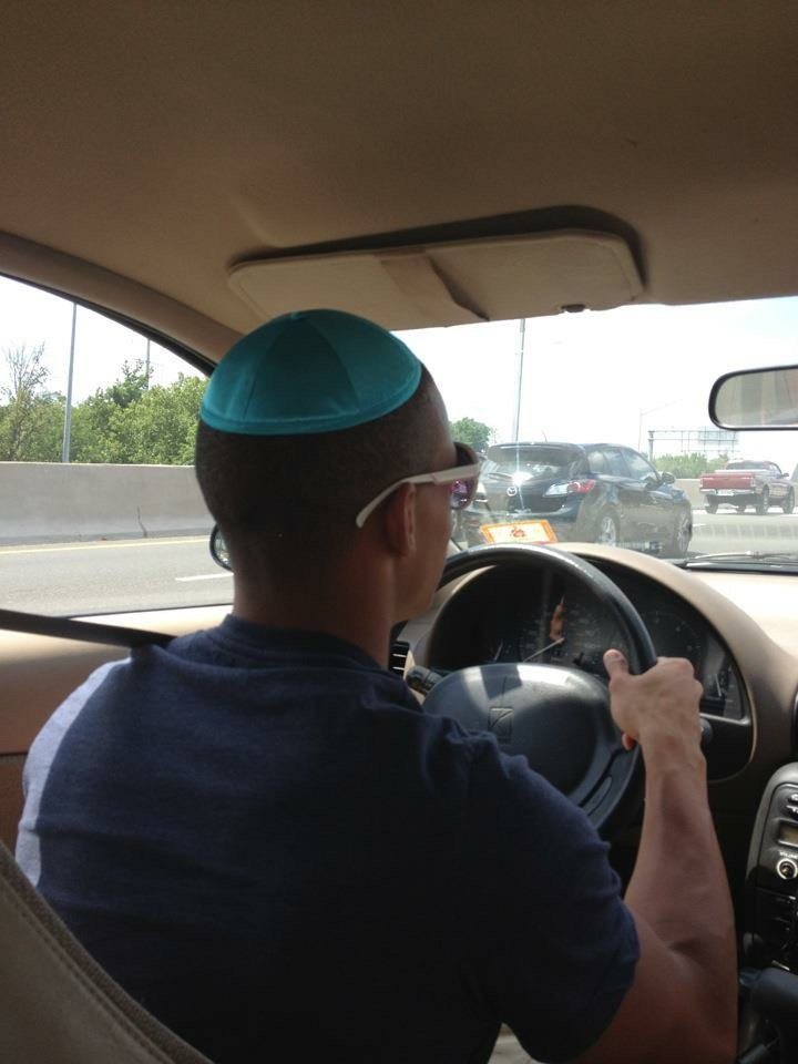 Will driving with the Yamaka from Eva's Bat Mitzvah in 2012