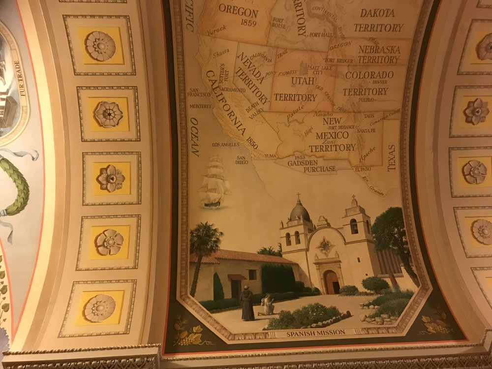 Murals on the ceiling of the first floor on the House Side of the Capitol