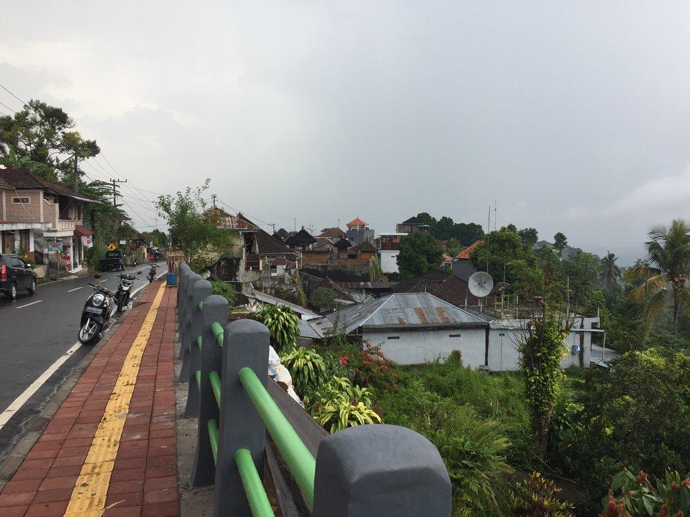 The main road in Munduk