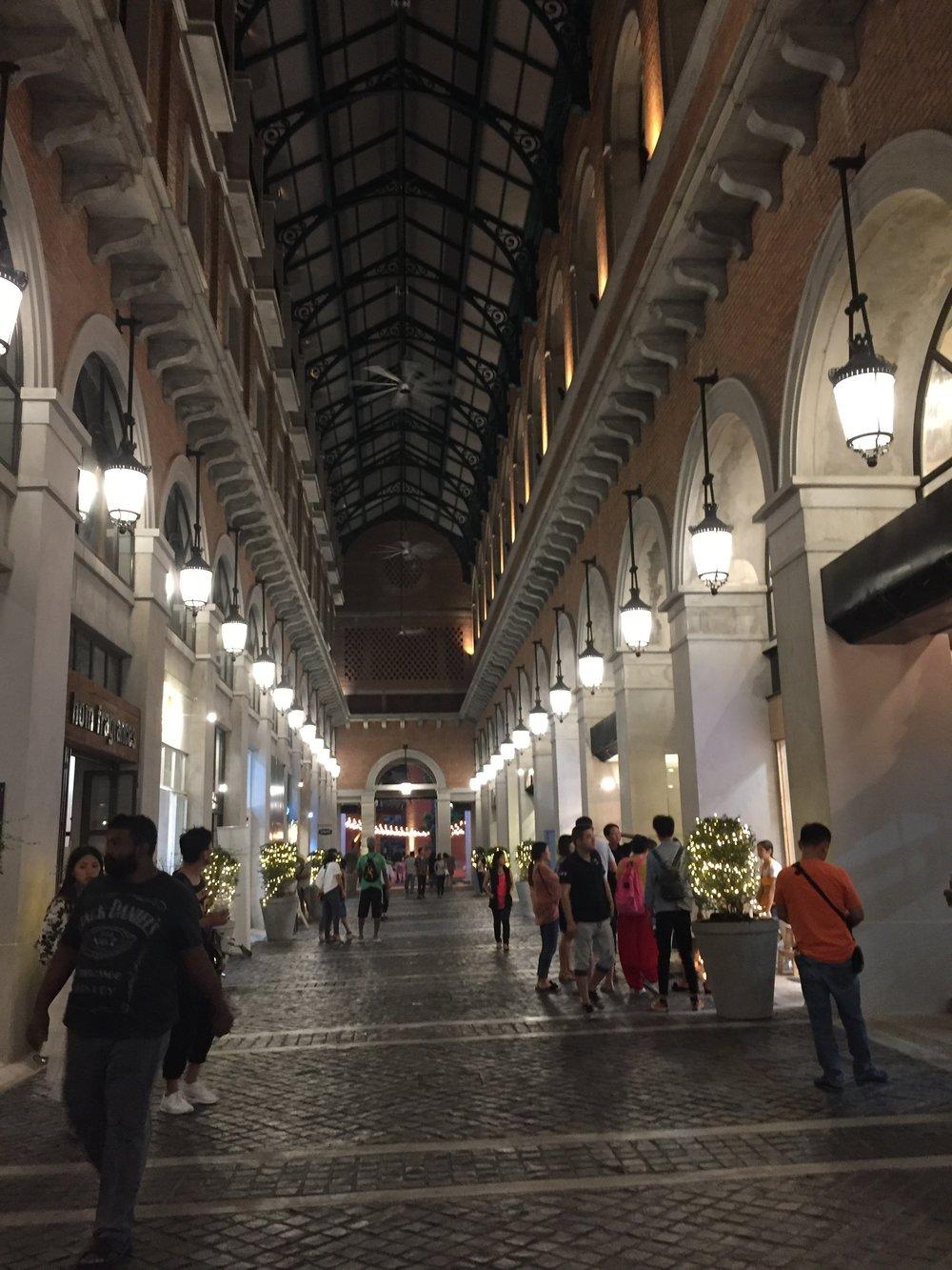 Hallway leading to One Nimman