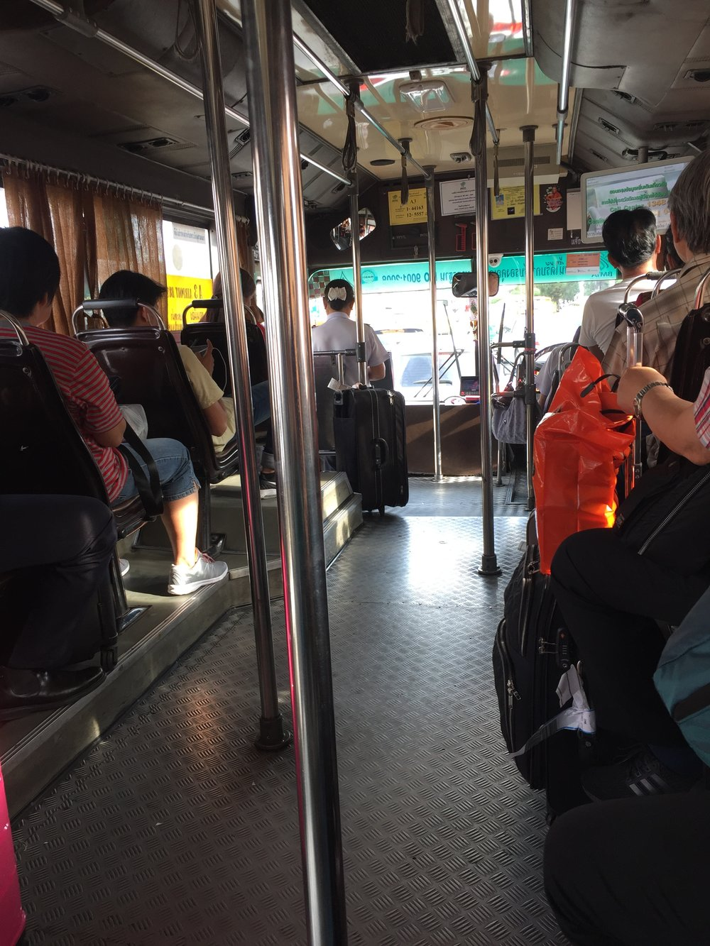 Bus from Don Mueang International Airport, Asia's oldest operating airport