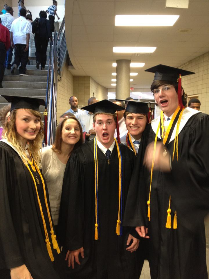 (We were super pumped about graduating!)