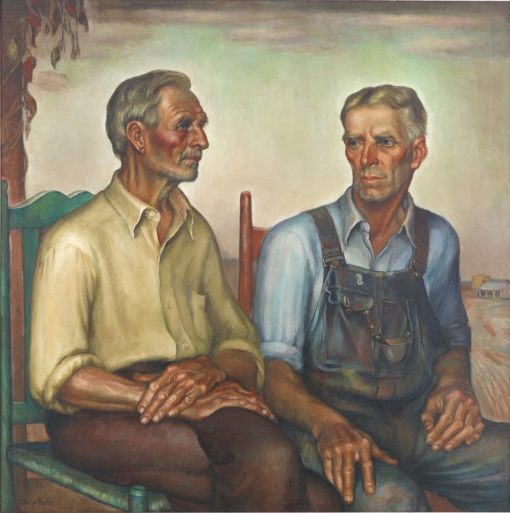 Marie Hull, Sharecroppers, 1938, oil on canvas. Collection of the Mississippi Museum of Art. Gift of Marie Hull.