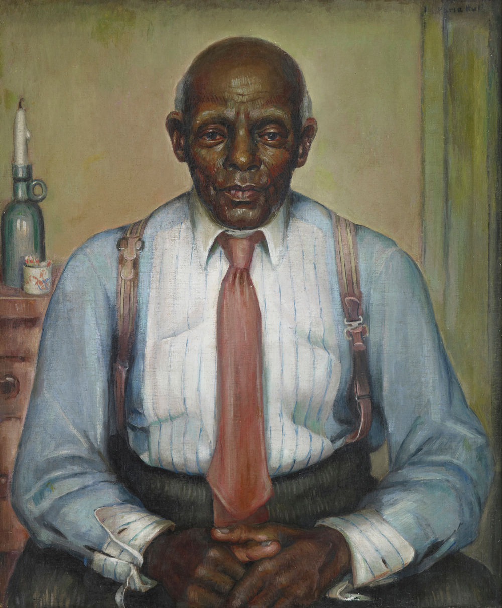 Marie Hull (1890-1980), An American Citizen, 1936. oil on linen. Collection of Mississippi Museum of Art. Gift of Dr. Blair E. Batson, Jackson, MS.