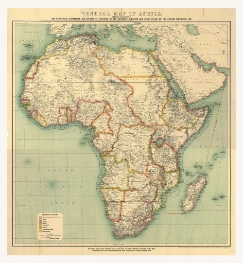 """Antique Map of Africa,"" courtesy of The Kroll  Company"