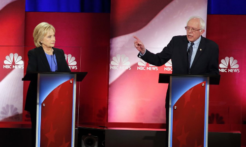 The two candidates for the Democratic nomination, Clinton and Sanders. Courtesy of NPR.com