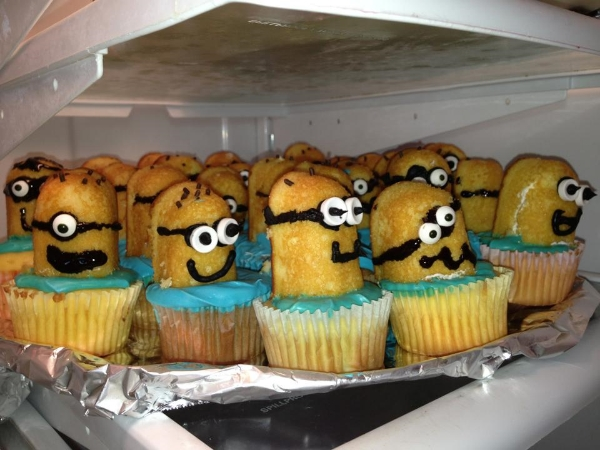 Although this was a one-time thing, everyone loved Mom's Minion cupcakes. They were despicably                                                                               delicious.