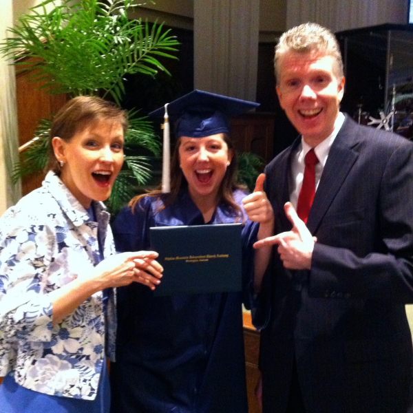 Graduation...finally! My parents and I were pretty pumped that I was on my way to being a Choctaw!