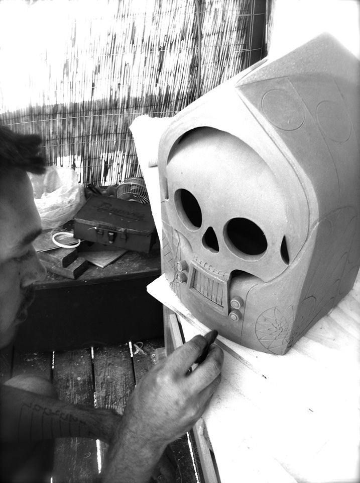 Ceramic artist Cannupa Hanska