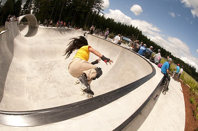 Elle Seven at Port Orchard Skatepark Opening. Photo by MRZ. Thrasher Magazine 2013