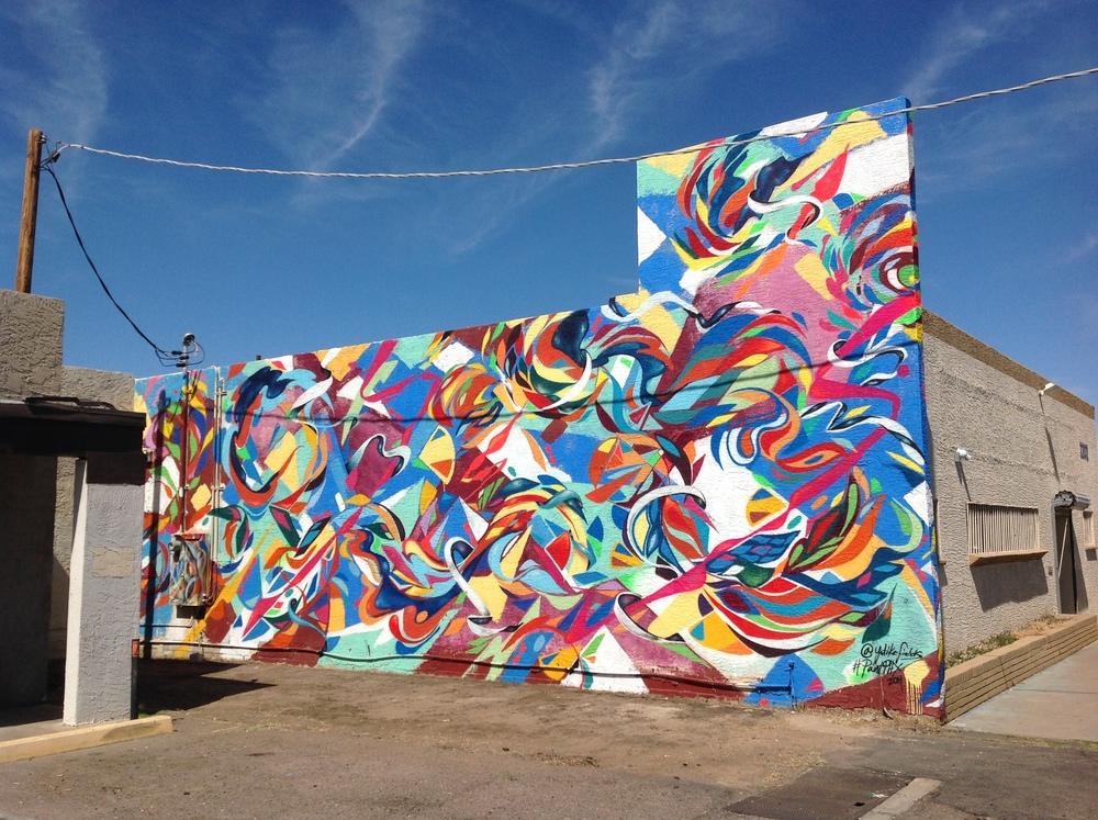 """Sonoran Waltz"", part of paint Phoenix mural project. 2014 Yatika Starr Fields"