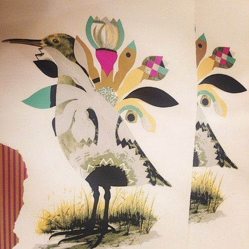 Birdzzzz pretending to be plantzzzz. Print with Chicago Art Alliance. Monica Canilao