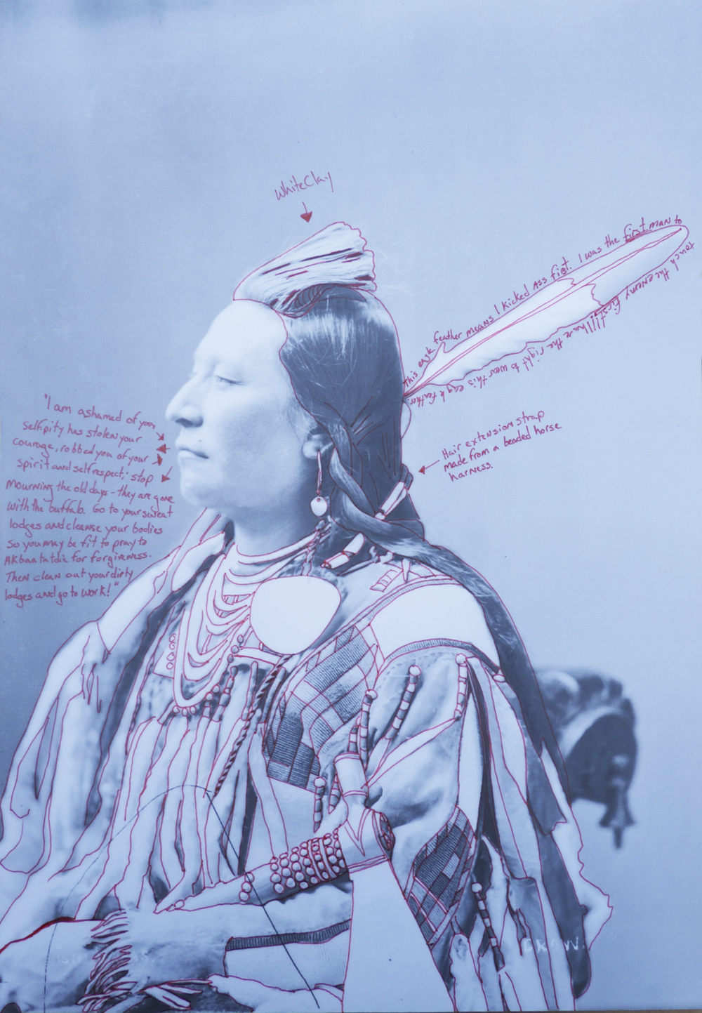 1880 Crow Peace Delegation Individual Portrait, Alaxchiiaahush (Plenty Coups)