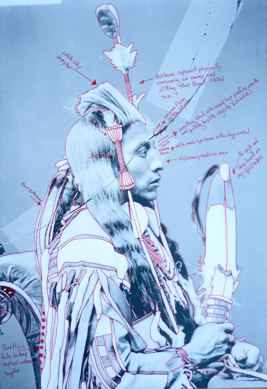 1880 Crow Peace Delegation Individual Portrait, Peelatchiwaaxpaash (Medicine Crow)