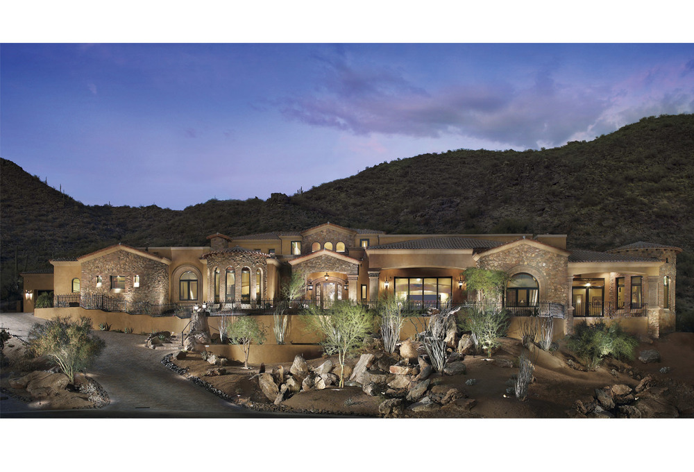 Custom Home Evening Exterior