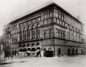 "Carnegie Hall, circa 1892.  Site of the world premiere of Dvořák's Symphony ""From the New World,"" December 16, 1893. Photo courtesy of Carnegie Hall Archives"