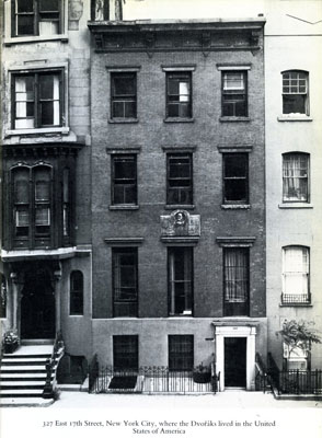 327 East 17th Street, New York City, Facade of house where the Dvořák's lived from 1892-95.