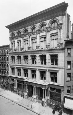 Bohemian National Hall, circa 1901. Photo courtesy of Museum of the City of New York, The Wurts Collection.