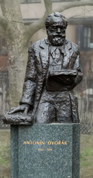 Antonín Dvořák Statue by sculptor Ivan Meštrović, Stuyvesant Park, New York City.  Photo courtesy Traian Stanescu.