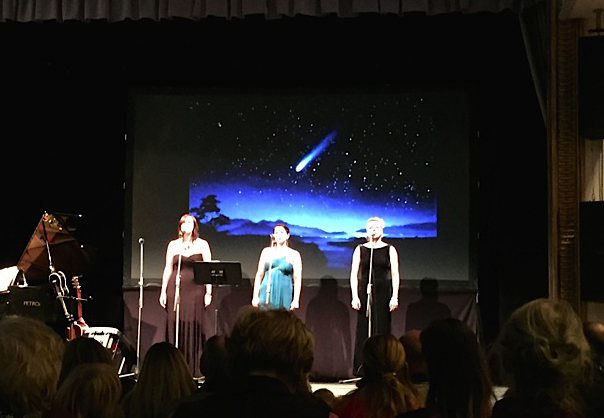 Pavlina Horáková with vocalists Nadia Sepsenwol and Julia Partyka, and pianist Matthew Sinno