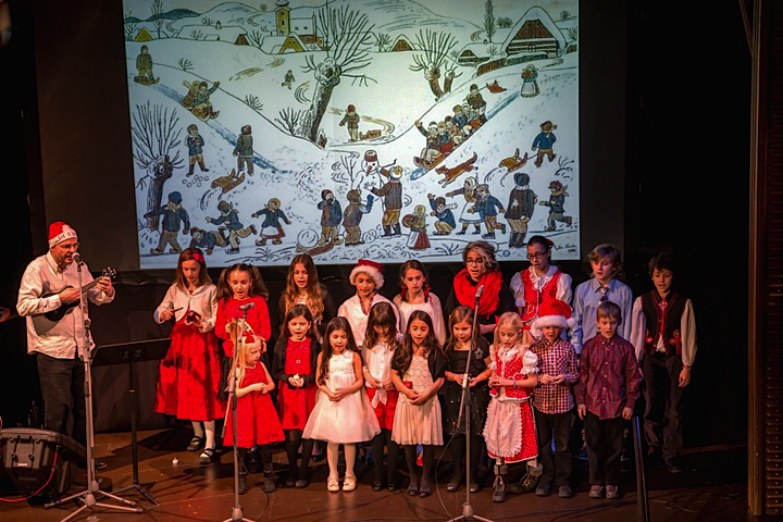 Children's Choir from the Czech & Slovak Cultural Center in Astoria with Choirmaster Jaroslav Eliah Sýkora