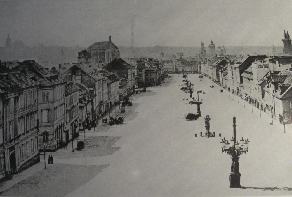 Wenceslas Square in Prague, 1859