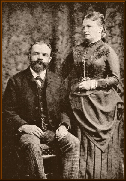 Dvořák and his wife, 1886 in England