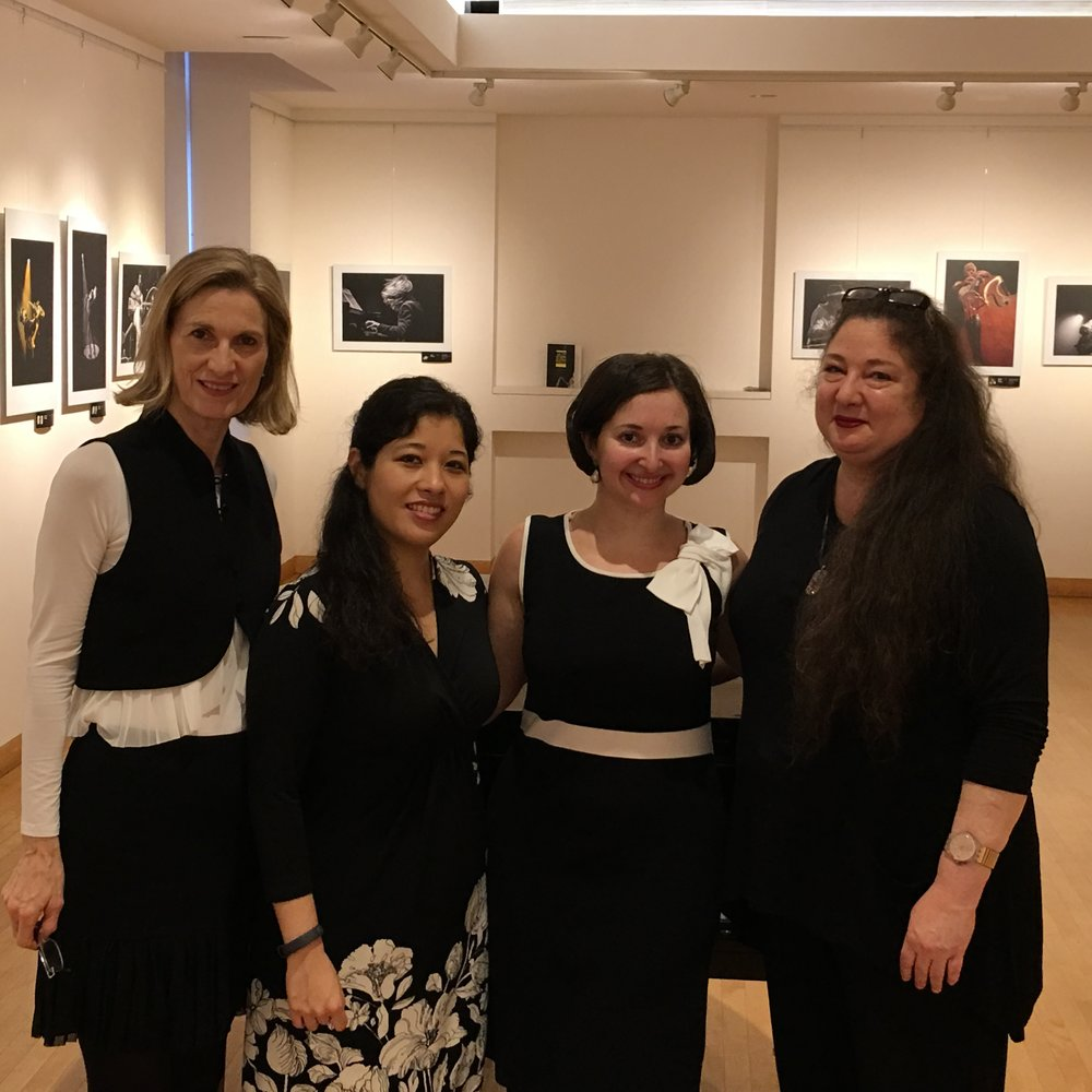 DAHA President Susan Lucak,   The G-Sharp Duo:    Emilie-Anne Gendron and Yelena Grinberg, Laura Jean Goldberg.